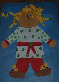Pajama glyph for Polar Express (available on TpT by Deanna Jump)