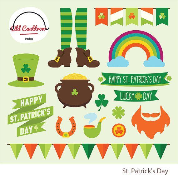 St. Patrick's-Day-Clipart kommerzielle von OldCauldronDesign