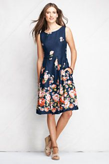 Oh, just plain pretty, nice with right jewelry.... Women's Dresses from Lands' End | $50+ Orders Ship Free