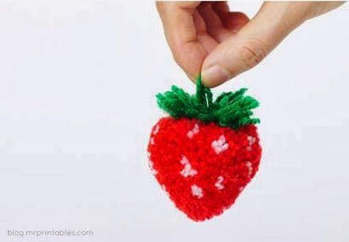 DIY Pom Pom Strawberry - The Idea King