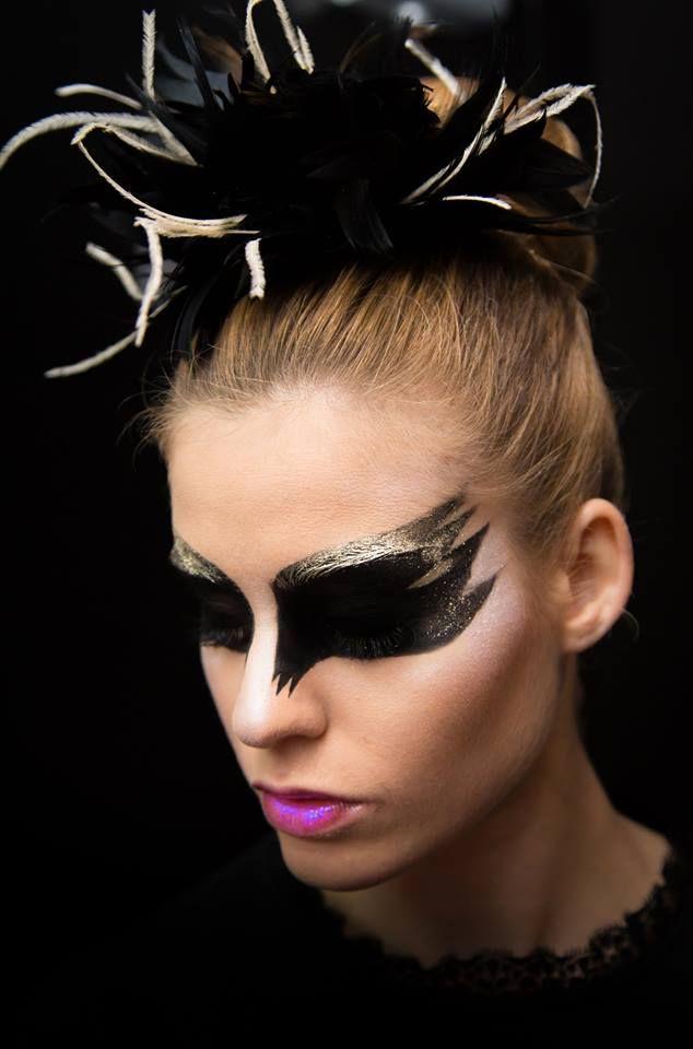 Szkoła Wizażu i Charakteryzacji SWiCh // Make-up: Małgorzata Bałdowska & Magdalena Kossakowska /  Fot.: Anita Kot /  #blackswan #makeup #visage #akademia_SWiCh #szkoławizażu #makeupartist