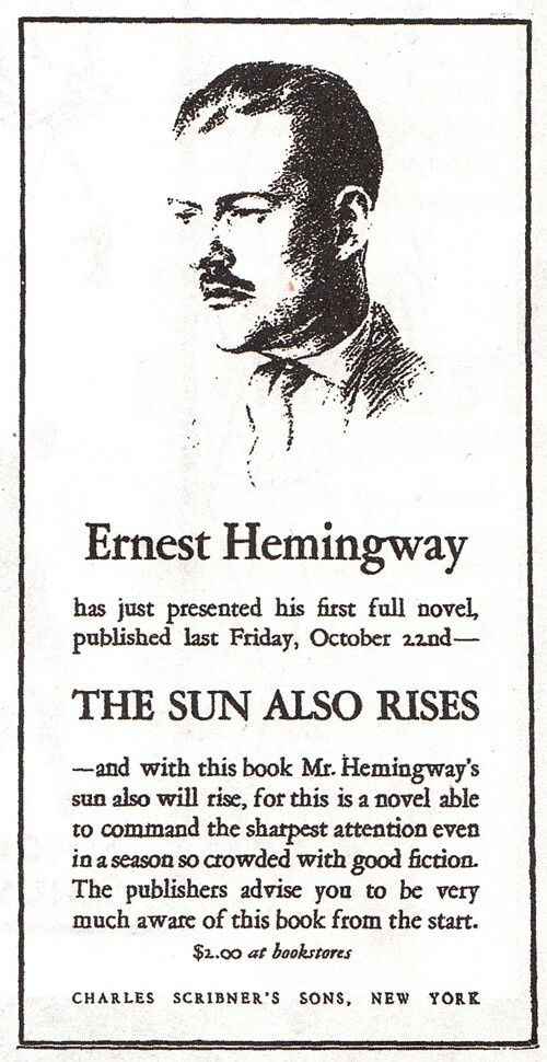 an analysis of the life of the lost generation in the sun also rises a novel by ernest hemingway The sun also rises is perhaps ernest hemingway's most autobiographical novel (cohn is one of a number of jake's friends who live the lost generation lifestyle) read more about the life and work of ernest hemingway.