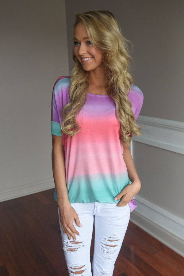 Follow the Rainbow Top – The Pulse Boutique