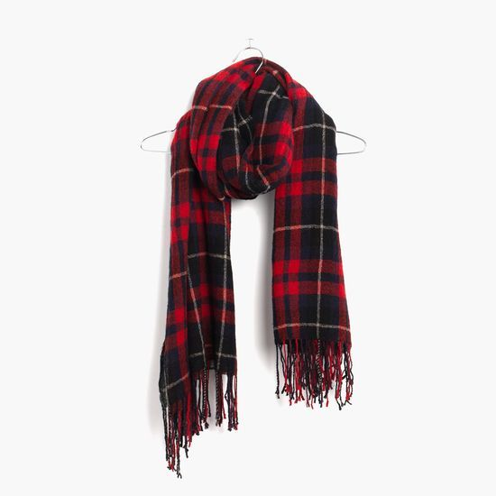 Instant outfit maker, right here. The Madewell Plaid Blanket Scarf #giftwell