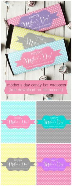FREE Mother's Day Candy Bar Wrappers on { lilluna.com } #mothersday