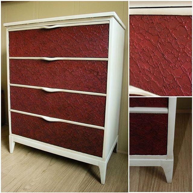 Lace textured dresser -Sold.  #dresser #furniture