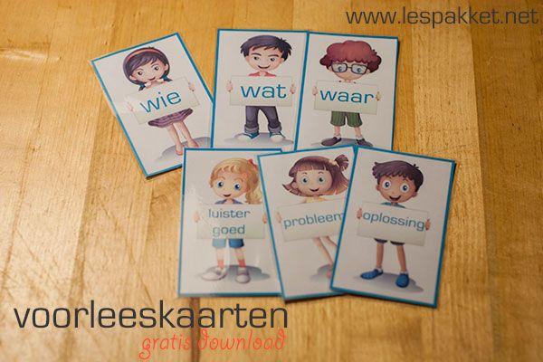 Kaarten om te gebruiken tijdens het voorlezen - Lespakket - thema's, lesideeën en informatie - onderwijs aan kleuters