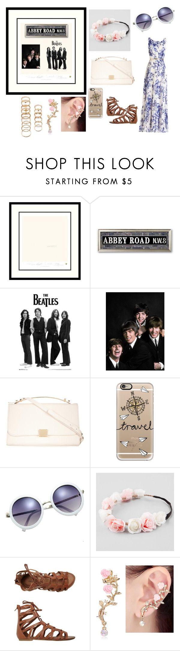 """The Beatles"" by alejandra-rodriguez-villalpando ❤ liked on Polyvore featuring Amanti Art, ZALORA, Casetify, Full Tilt, O'Neill and Forever 21"