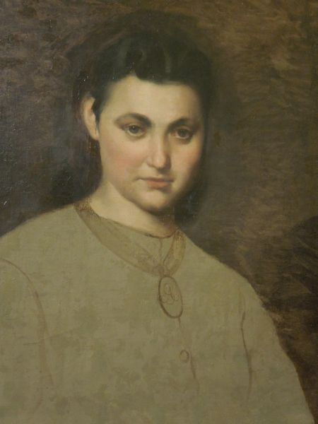 Portret dziewczyny z medalionem - Artur Grottger