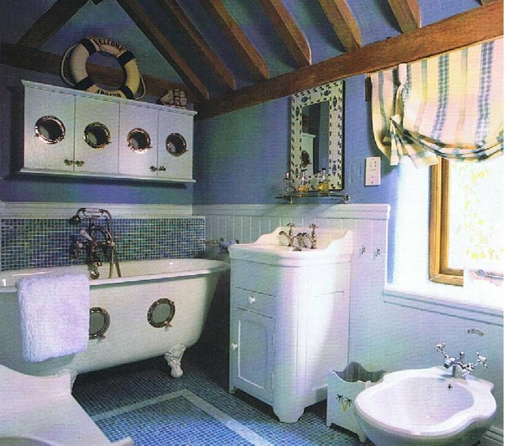 Nautical Bathroom Tile Ideas