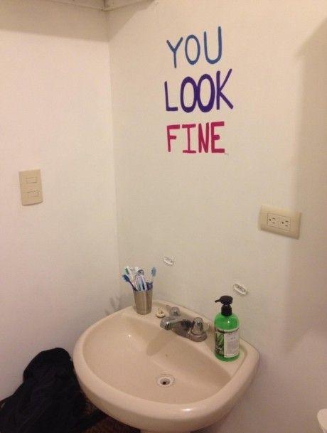 just believe it: Ideas, Mirror Mirror, Guest Bathroom, Wash-Hand Basin,  Handbasin,  Lavabo, Bathroom Mirror, Mirrormirror,  Washbowl