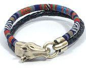 horse bracelet * horse jewelry * western jewelry * equestrian bracelet * ethnic fabric bracelet * men woven bracelet * men leather bracelet