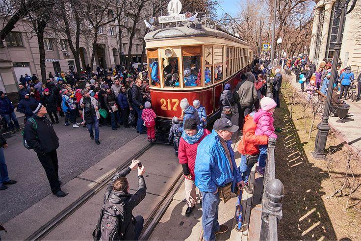Парад трамваев в Москве