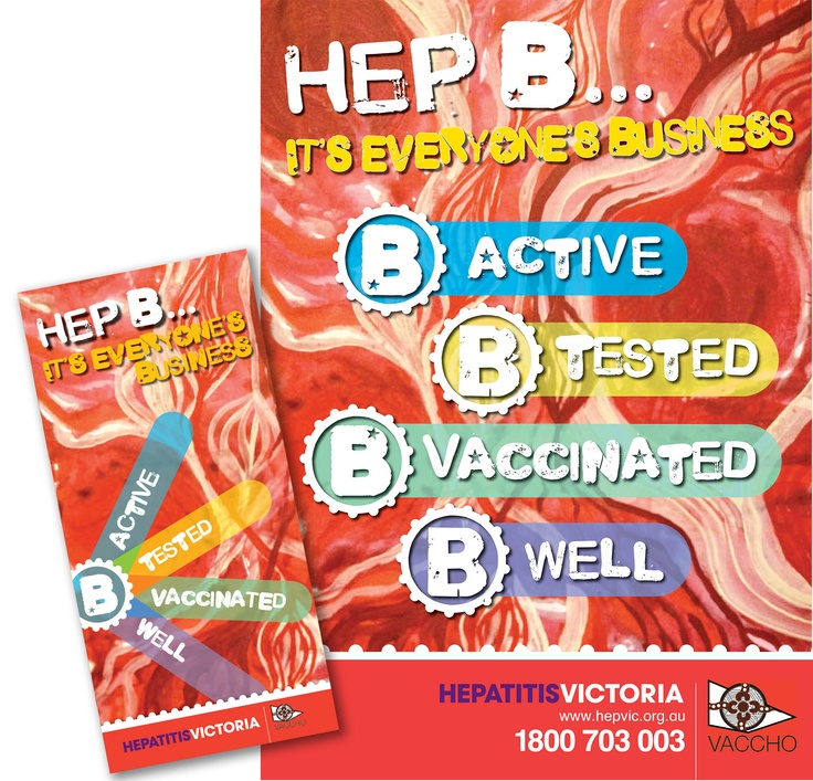 Poster and brochure to promote living well with hepatitis B within the Aboriginal community.