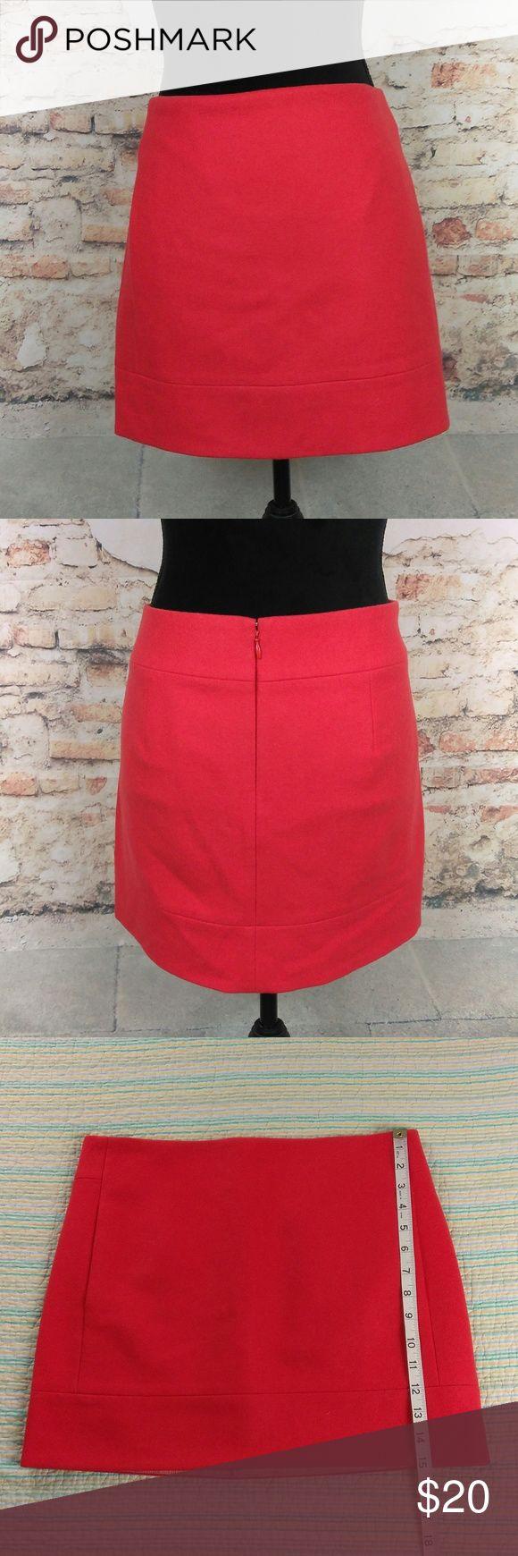 J. Crew 4 Red Orange Double Serge Wool Mini Skirt J. Crew Wms Sz 4 Red Orange Double Serge Wool Blend Mini Skirt Lined w/ POCKETS J. Crew Skirts Mini