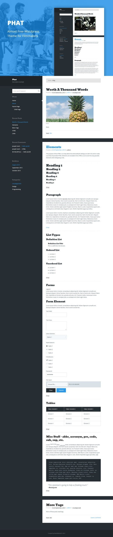 Phat - Cheap WordPress Theme . Photoshop Plugins. $2.00