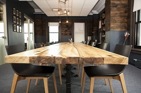 notice the table for our conference room....22 Gorgeous Startup Offices You Wish You Worked In