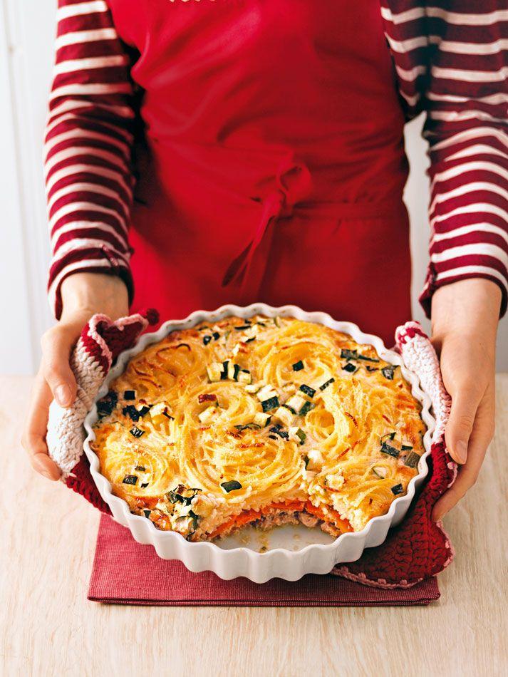 Spaghetti mal anders! Wir verraten euch ein Rezept für Spaghetti-Auflauf mit Kalblfeisch.