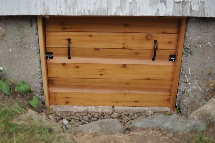 Irvin S Amazing Crawl Space Door Simple Cedar And