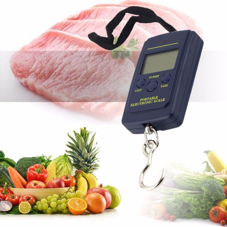 2016 Baru Kedatangan Mini Tahan Lama Portabel 40 kg/10g LCD Digital Display Elektronik Hanging Fishing Pocket Berat Kait Skala bagasi