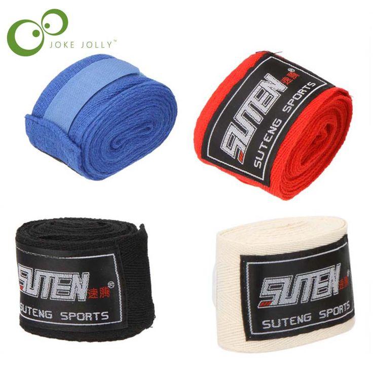 1 pcs De Boxe Gant Coton Sport Sangle De Boxe Bandage Sanda Muay Thai MMA Taekwondo Main Gants Wraps Protection Hommes