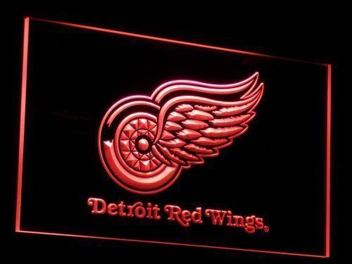 Detroit Red Wings Sign Led Signs Neon Signs Home Man Cave Decor B086-R