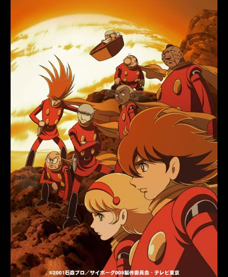 Cyborg 009. The art isn't so advanced, but i really like it. Especially 006 and his nose. lol.