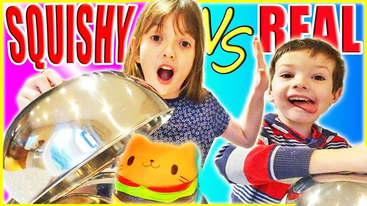 REAL FOOD vs. SQUISHY FOOD TOYS CHALLENGE!!! DOES IT SQUISH ABC Children...