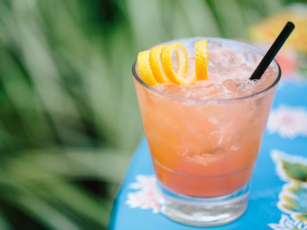 Pok Pok's Rhubarb Blush: Pok Rhubarb, Rhubarb Blushes, Rhubarb Bitterness, Pok Pok, Limes Juice, Gin Cocktails, Blushes Cocktails, Serious Eating, Cocktails Recipes