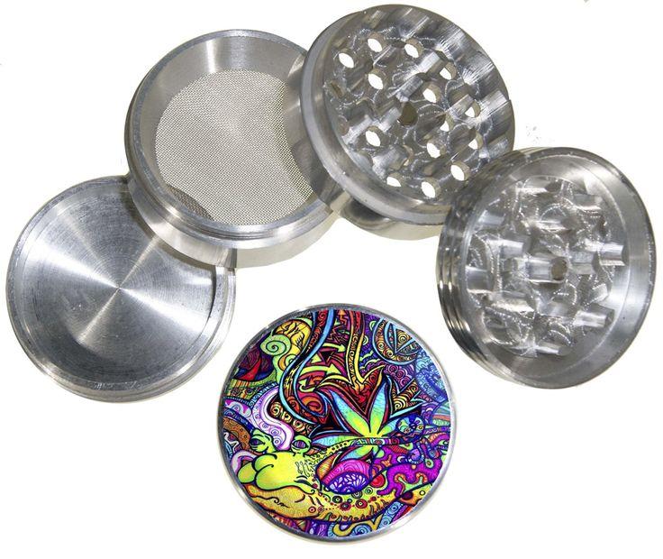 smokethesativa:     Fashion Weed Design Indian Aluminum Spice Herb Grinder With Design Item
