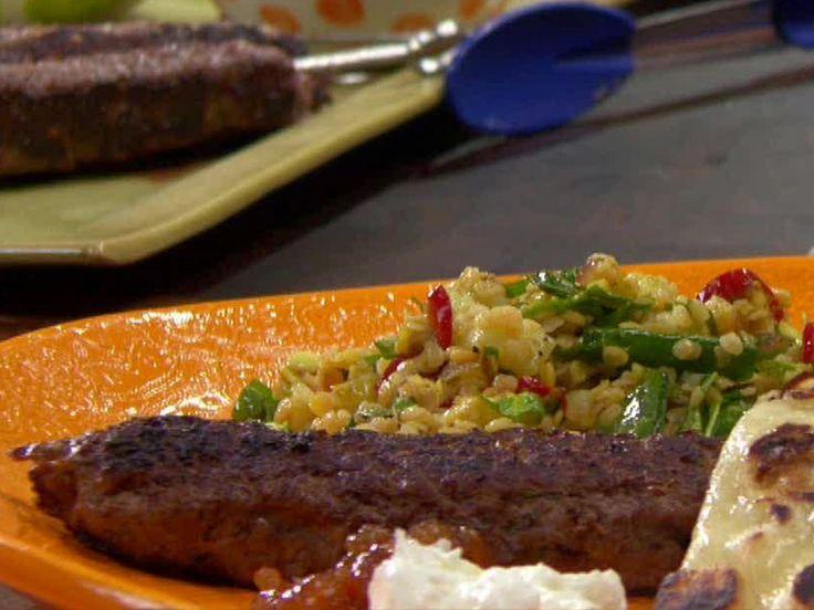 Grilled Ground Lamb Kabobs (koftas) recipe
