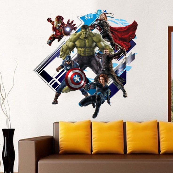 Peel And Stick Wall Decal Stickers Avengers Age Of Ultron Removable 3D Art Wall  Murals Decor Part 76