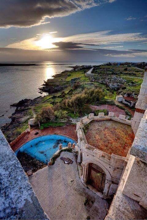 Portopalo (sr) da castello Tafuri. Sicilia