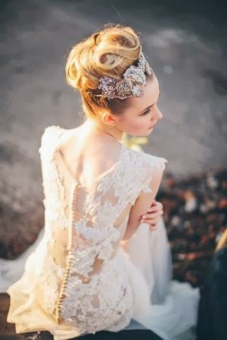 Stunning lace on this dress.