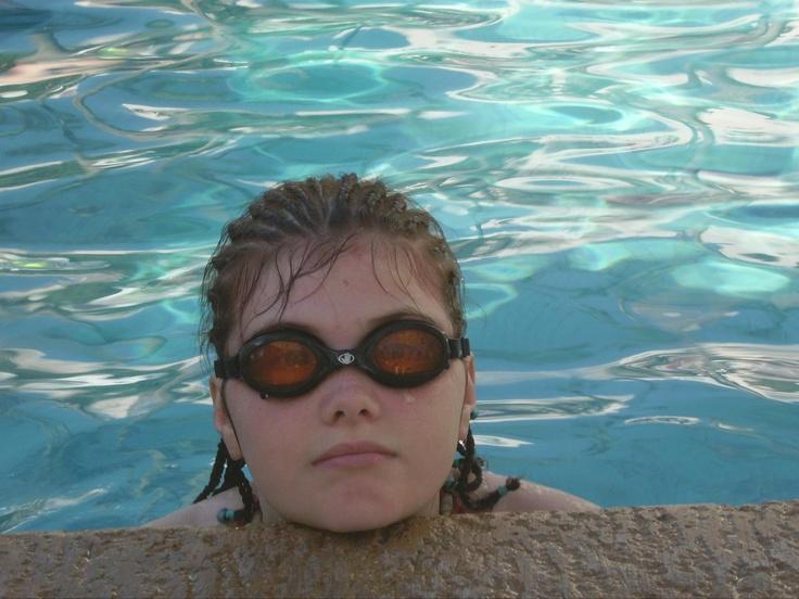 Sean taking a break in the pool - 2005