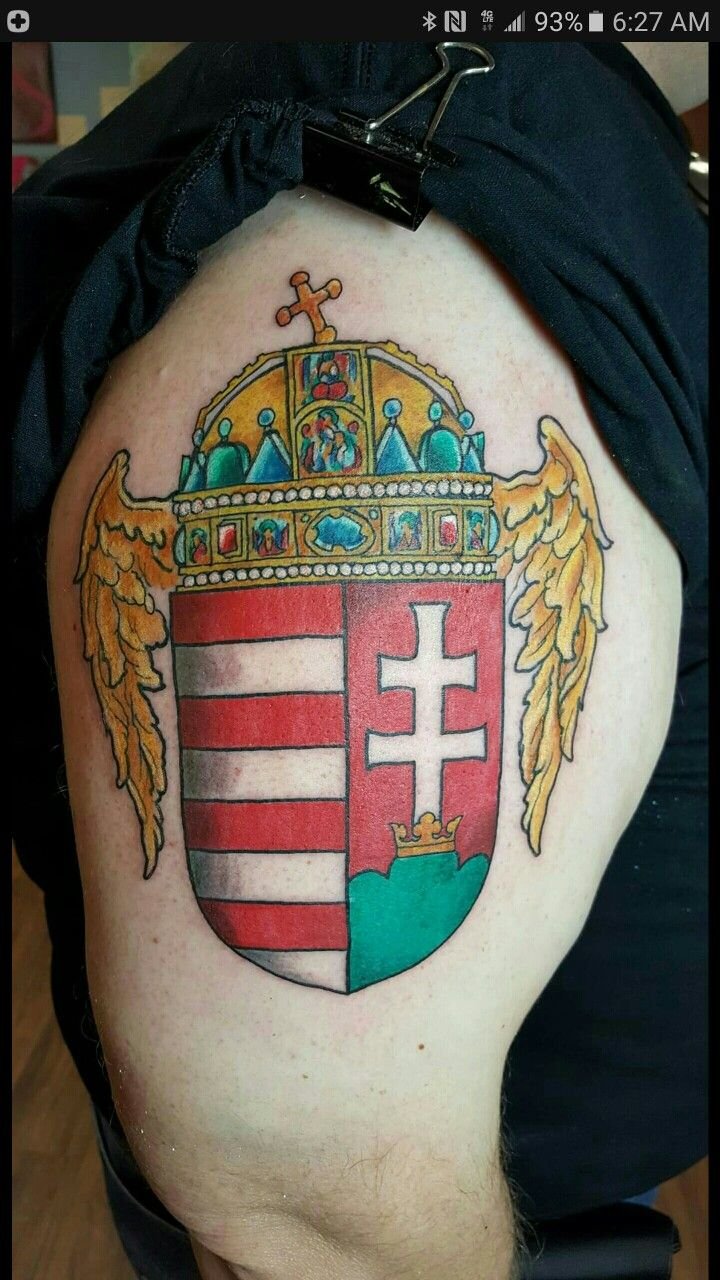 Hungarian Coat of Arms tattoo