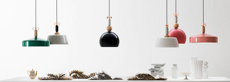 Sospensioni in metallo e rovere Bon Ton | Torremato