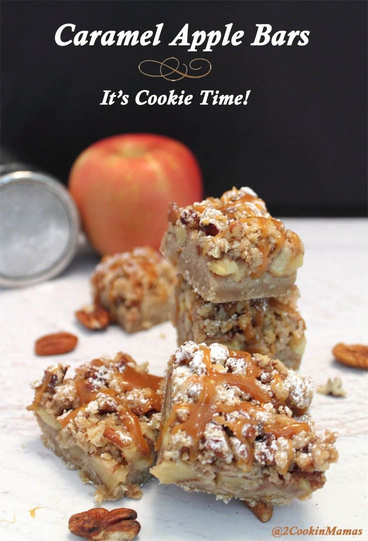 Karamell-Apfel-Riegel main | 2CookinMamas   – desserts