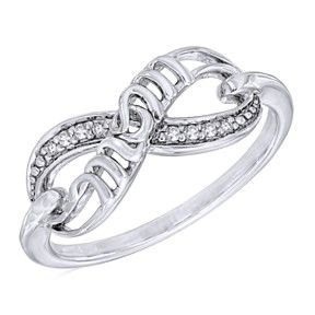 "Diamond Accent Infinity With ""Mom"" Ring In Sterling Silver Mother'S Day Gift by JewelryHub on Opensky"