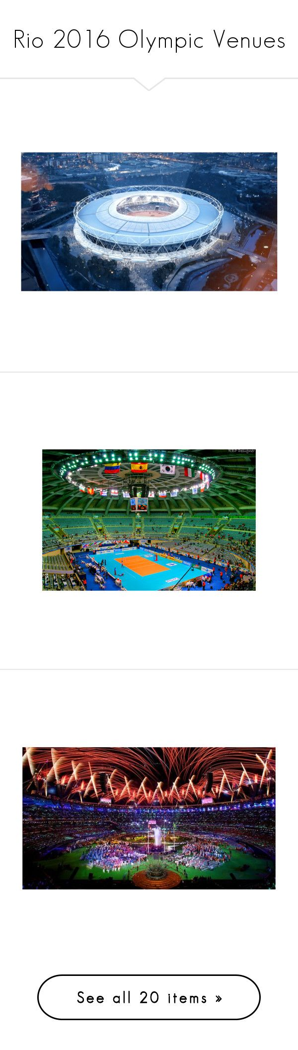 """""""Rio 2016 Olympic Venues"""" by gymholic ❤ liked on Polyvore featuring olympic"""
