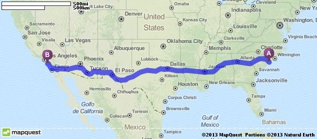 Driving Directions from Myrtle Beach, South Carolina to Laguna Beach in Laguna Beach, California 92651 | MapQuest