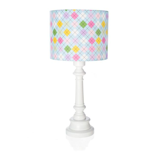 "Lampa ""Niebieska krata""  Zobacz inne produkty: http://bit.ly/1mHiui1  #lamps #forkids #design #dizajn"