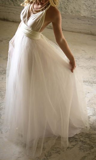 Champagne Infinity wedding dress with tulle overlay...simply dreamy! Order yours at www.infinitybridalwear.co.za