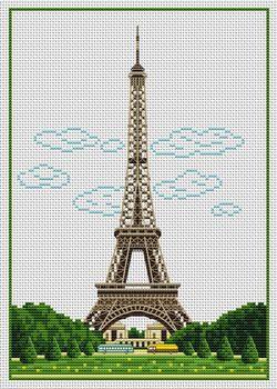 Eiffel Tower cross stitch    mom