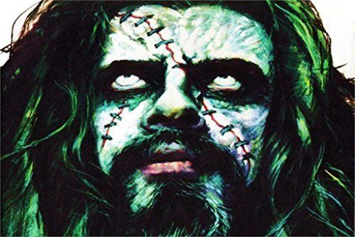 makeuseof Living room home wall decoration sill fabric poster ROB ZOMBIE industrial metal heavy white zombie rob ** To view further for this item, visit the image link.