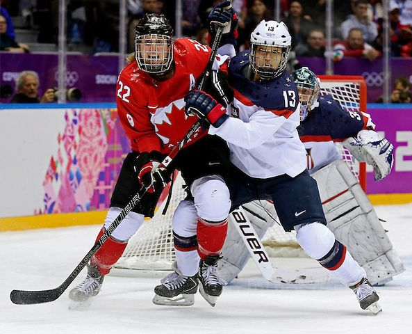 Hayley Wickenheiser was the first non-goalie woman to play a full season!