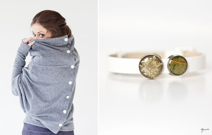 Grey asymmetric sweater and bracelet with real leaves  Sweater https://www.etsy.com/listing/163896746/grey-lemuse-asymmetric-sweater-with?ref=favs_view_3 Bracelet https://www.etsy.com/shop/Agnera  #bracelet #botanical #white #grey #sweater #agnera #LeMuse #leaves #fall #autumn #style #fashion #women