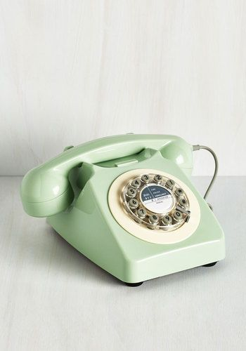 Ring True Desk Phone in Sea Green - From the Home Decor Discovery Community at www.DecoandBloom.com