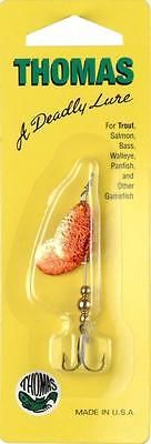 Thomas Fishing Lures Gold/Red Special Spinner 1/5 Ounce - For Trout/Salmon/etc