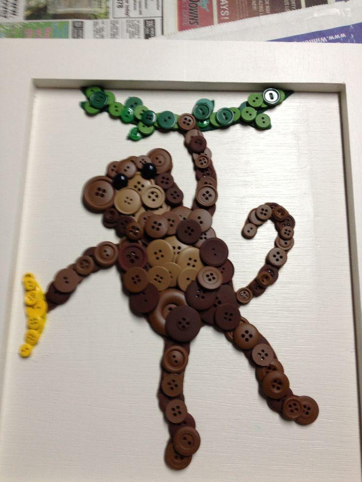 DIY nursery art -- with an elephant instead! :)